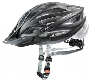 18 UVEX HELMA OVERSIZE, BLACK MAT-SILVER 60-65